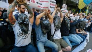 Украински протестиращи обвиниха прокурори, че поощряват корупцията