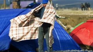 Протест на бежанци в Босна
