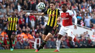 Арсенал извади късмет и подчини Уотфорд с два късни гола