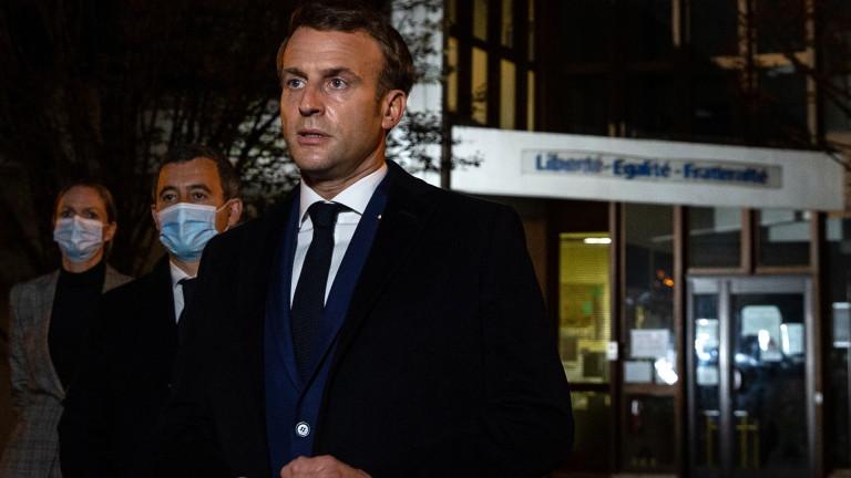 Макрон за ислямистката атака в Париж: Ще действаме, те няма да спечелят