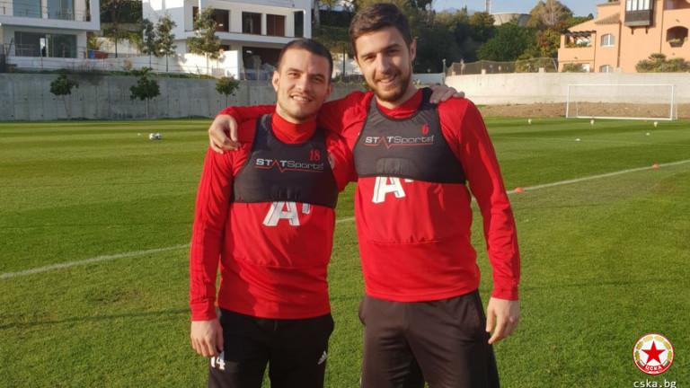 Двама футболисти на ЦСКА започнаха тренировки с отбора. Това са