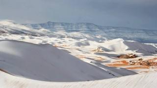 Сняг валя в Сахара