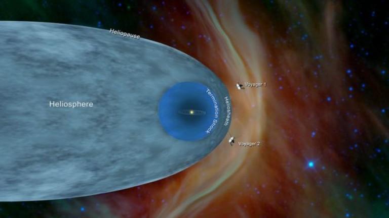 Сондата Вояджър 2, която напусна Земята през 1977 г., е