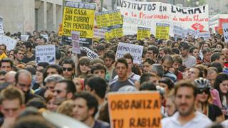 Хиляди участваха в нощно шествие срещу безработицата в Мадрид