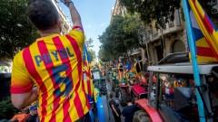 С трактори защитават референдума в Каталуния