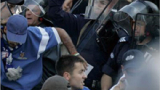 Фенове на Левски и Сараево се сбиха