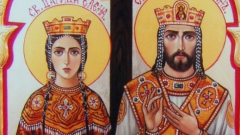 """Св. Константин и Елена """"носят градушка в чувал"""""""