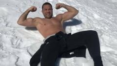 Кубрат Пулев тренира в снега на Белмекен