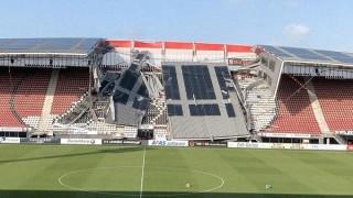 """Падна покривът на стадиона """"АЗ Алкмар"""""""