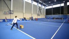 Александър Донски игра с деца по време на Sofia Open 2018
