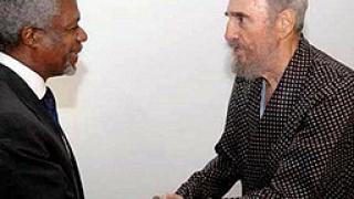 """""""100 часа с Фидел"""" подарява Кастро на Анан"""
