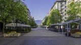 Мрежа показва всички пешеходни отсечки и пътеки в София
