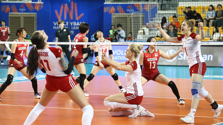 Волейболистките на Полша спечелиха прекия двубой с Япония за място
