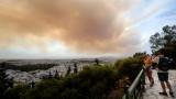 Няма данни за бедстващи българи при големия горски пожар в Гърция