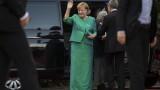 Ангела Меркел бави звездите на Лудогорец по пътя им към стадиона в Тбилиси