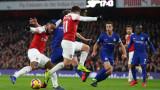 """Арсенал - Челси 2:0, Кошчелни удвоява преднината на """"топчиите"""""""