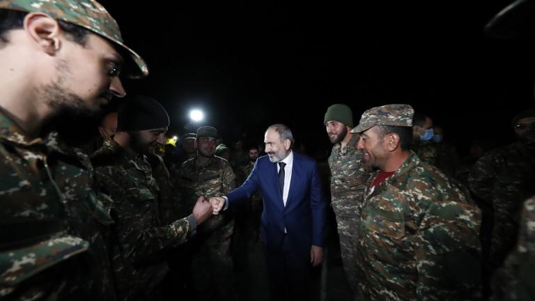 Премиерът на Армения Никол Пашинян изключи дипломатическо решение на конфликта