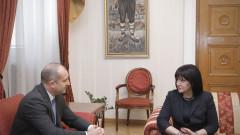 Радев и Караянчева обсъдиха законодателните промени заради извънредното положение
