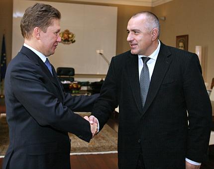 Шефът на Газпром при Първанов и Борисов в София