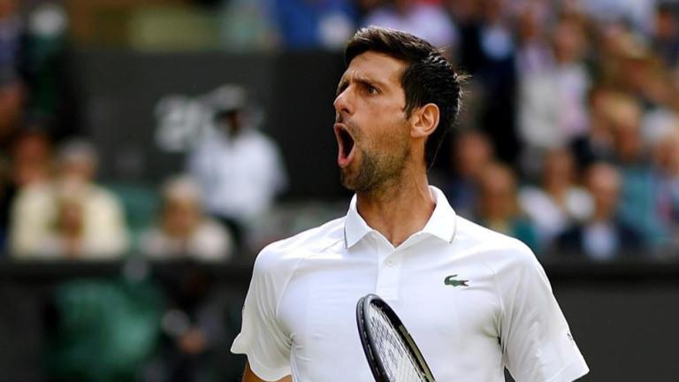 В неделя, 14 юли, Новак Джокович и Роджър Федерер изиграха