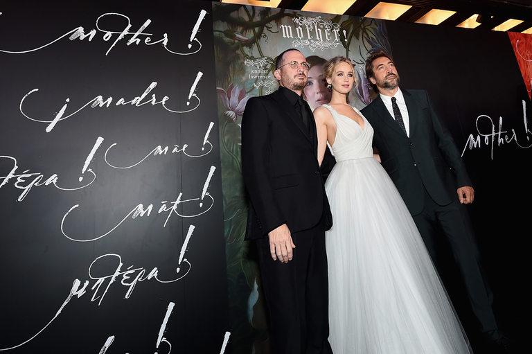 Аронофски, Лорънс и Хавиер Бардем на премиерата на mother!