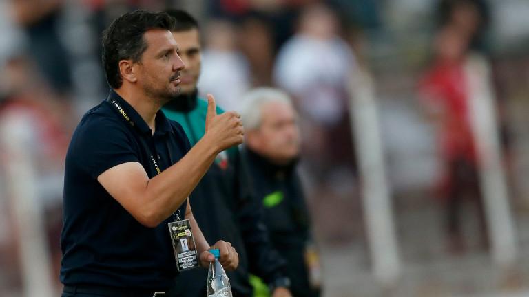 Треньорътна ЦСКА Милош Куршчич не скри голямата си радост, след