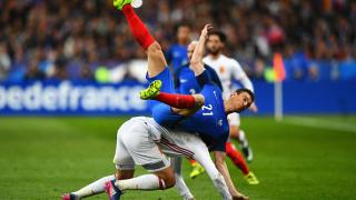 Франция - Испания 0:2 (Развой на срещата по минути)