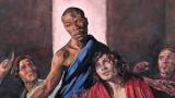 Исус нарисуван черен в картина на Тайната вечеря в храм в Англия
