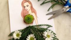 Дизайнер прави рокли от цветя и плодове (СНИМКИ)