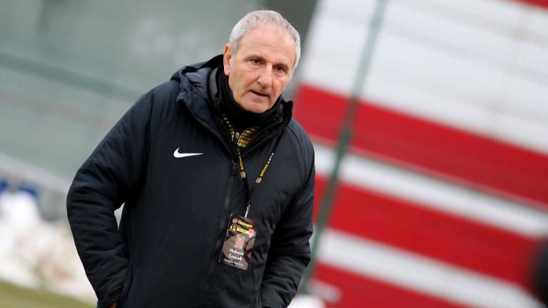 Старши-треньорът на софийския Царско село Никола Спасов коментира предстоящия днес
