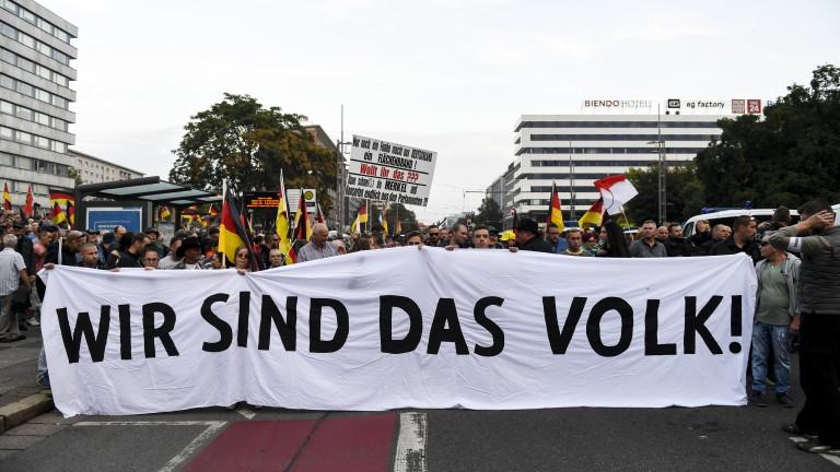 Хиляди на пореден протест в Кемниц