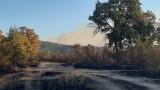 Продължава гасенето на пожара в Хасковско