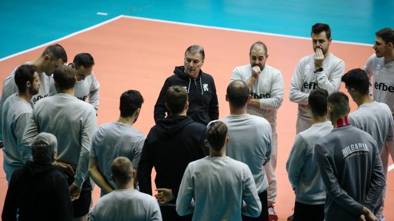 Мъжкият национален отбор по волейбол ще проведе летен лагер