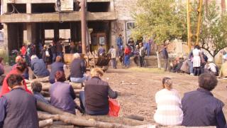 """Протест заради неизплатени заплати в мина """"Черно море"""""""