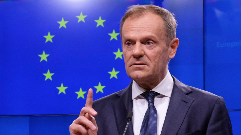 Доналд Туск призова ЕС да подкрепи отлагане на Брекзит
