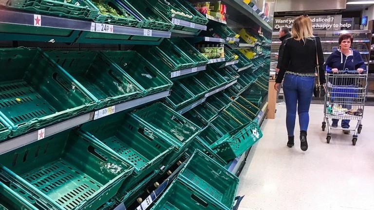 Великобритания ще изчерпи храната си само за 7 месеца, ако