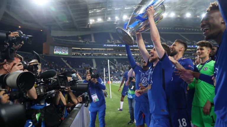 Футболистите на Челси бяха на седмото небе от щастиеслед триумфа