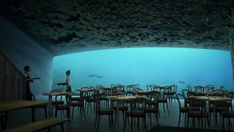 Under, който ще се превърне в първият подводен ресторант в