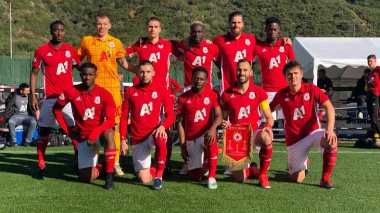 ЦСКА представя отбора си срещу тим от Втора лига
