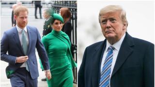 Как Тръмп посрещна Хари и Меган в САЩ