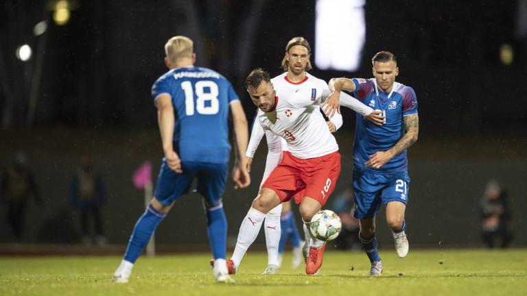 Отборът на Исландия допусна трета поредна загуба в турнира Лига
