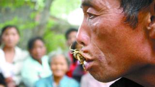 Китаец се пристрасил към скорпиони