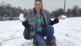 Малина търси сняг в Брюксел (Снимки)