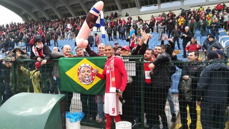 Нападателят на ЦСКА - Фернандо Каранга, изрази доста неуважително радостта