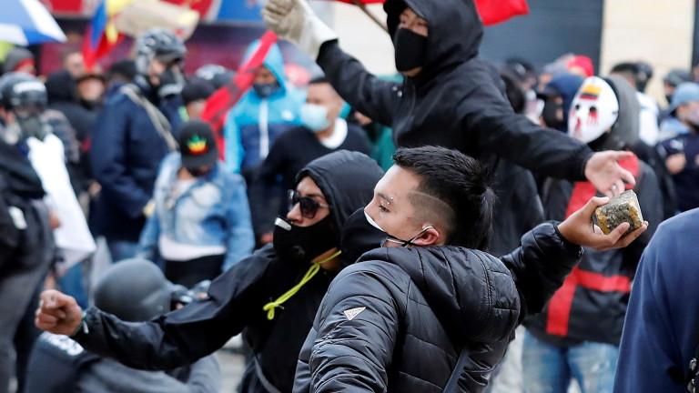Протести избухнаха в Колумбия срещу правителството, съобщи АП. Източник: Демонстрантите