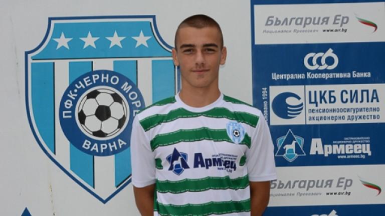 Николай Златев стана най-младият дебютант в историята на Черно море
