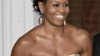 Мишел Обама с рокля в телесен цвят, но чий?
