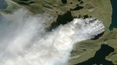 НАСА засне голям пожар в Гренландия