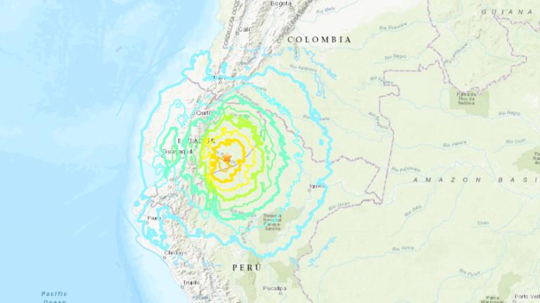 Земетресение от 7.5 по Рихтер удари Еквадор