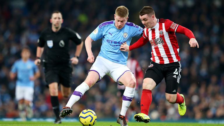Кевин де Бройне и късметът донесоха победата на Манчестър Сити срещу Шефилд Юнайтед